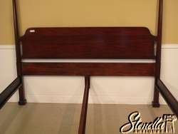13946 HENKEL HARRIS King Size Mahogany Pencil Point Bed