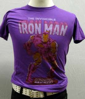 Urban Outfitters IRON MAN Purple Graphic Tee T shirt