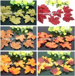 200pcs Fall Maple Leaves Silk Petal Many Color Available Wedding