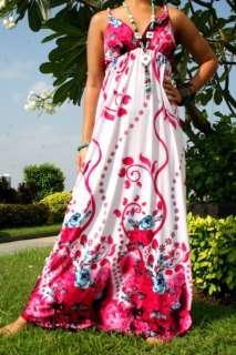 NEW NWT Floral Evening Summer Women Long Maxi Dress Size Sz M XXXL