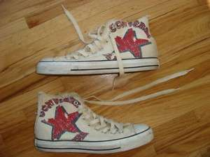 CONVERSE ALL STAR SHOES OFFWHITE RED GRAY STAR