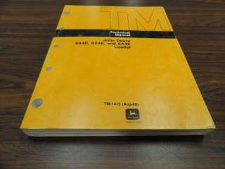 John Deere 544E   624E   644E Loader Technical Service Manual TM1413