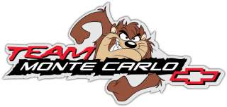 Team Monte Carlo Nascar Taz Car Bumper Windows Sticker Decal 6X3