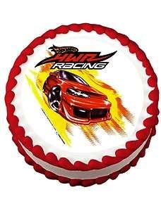 Hot Wheels Racing Edible Image Cake Topper LUCKS Allergen Free!