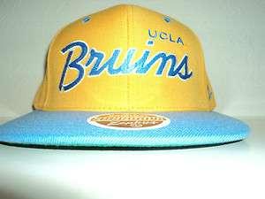 UCLA BRUINS SNAPBACK HAT RETRO CAP SCRIPT YELLOW ZEPHYR Z