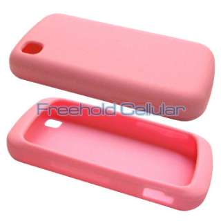 Light Pink Silicone Skin Case Cover for LG Encore GT550