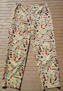 Misses NOUVEAUX Yellow Asian Doll Capri Pans Sz 6 EUC  