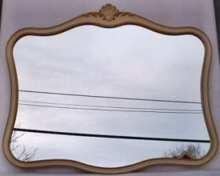 LARGE DREXEL FURN. SHABBY N CHIC FRENCH STYLE MIRROR