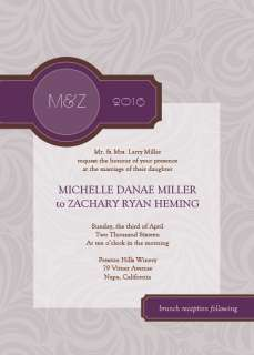 CLASSIC WEDDING INVITATIONS AND RSVP WITH ENVELOPES