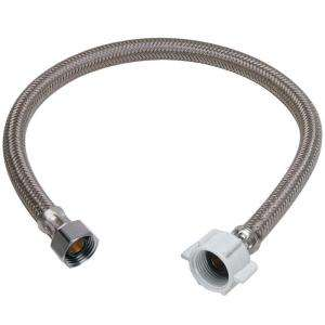 in. Polymer Braid Toilet Water Connector B3 20DL F