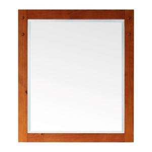 Pegasus Sierra 32 In. X 28 In. Light Pine Framed Wall Mirror 9130 M28