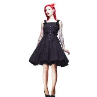 Hell Bunny Kleid GERY 50S POLKADOT DRESS black/purple
