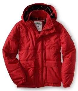 NWT Aeropostale Mens Aero NY87 Puffer Jacket Coat Parka Red Small