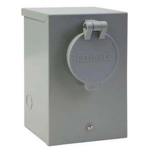 Reliance Controls 30 AmpPower Inlet Box With Circuit Breaker PR30 at