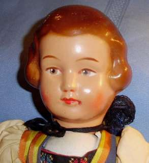 15 Vintage 1940s SWISS Foreign ETHNIC Costume DOLL