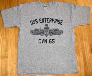 US Navy USS Enterprise CVN 65 T Shirt Aircraft Carrier