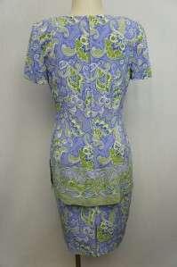 Maggy London Lavendar/Green/White FLoral Dress Sz 8
