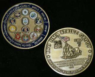 IWO JIMA STRIKE GROUP DEFBNDING WORLD DEMOCRACY 247 Challenge Coin
