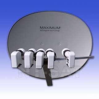 Teilnehmer 5 LNB 3D Sat Anlage MAXIMUM Multifocus E85