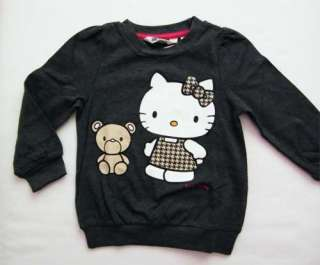 Hello Kitty Pullover Shirt Samtdruck neu 86/92/98/104/110/116/122