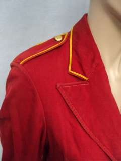 Vtg MARCHING BAND Costume cosplay Jacket Blazer Sz S retro