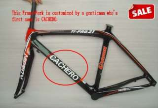 Full Carbon Road Bike Frame Fork 50cm,52cm,54cm or 56cm