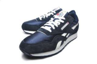 Reebok Mens shoes CL NYLON 39749 TEAM NAVY/PLATINUM