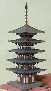 Temple Five story Pagoda 1/150 N scale   Sankei MP03 11