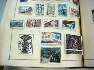 US/WW, CHINA, 100S of Stamps hinged in a Scott International(1963