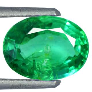 04 cts Natural Top Mined Green Emerald Loose Gemstone Oval Cut