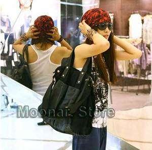 Women Casual Faux leather handbag shoulder bag Tote Hobo Large