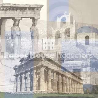 Paper House Europe Travel ~GREECE~ Scrapbook Page Kit