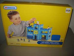 Kid Connection Soft Builder Police Station Toy Play Set K 9 unit jail