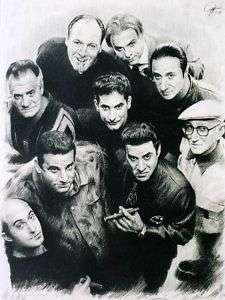 Sopranos Cast Sketch Portrait Charcoal Pencil Drawing