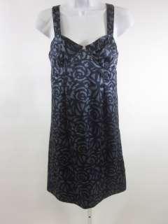 REBECCA TAYLOR Navy Blue Silk Sleeveless Tunic Top Sz 4