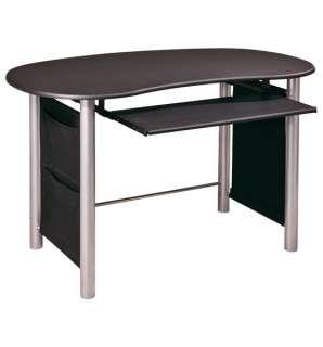 Glass Metal L Shaped Corner puter Desk Home fice