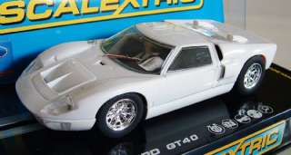 Scalextric C2473 Ford GT40 Mk II White Slot Car 1/32