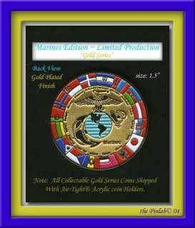 MARINES IRAQI MILITARY CHALLENGE COIN GOLD SERIES®