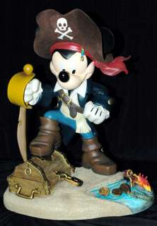 Pirate Mickey Mouse Big Figurine NEW Disney