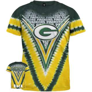 Green Bay Packers   Logo V Dye Tie Dye T