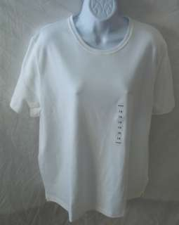 NWT Kim Rogers Woman 1X White Pullover Shirt Top
