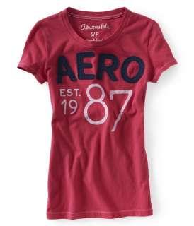 aeropostale womens aero est. 1987 graphic t shirt