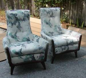 Pr. Mid Century Modern Kagan style Arm chairs