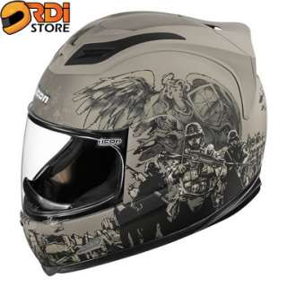 Icon Airframe Guardian Olive Drab Full Face Motorcycle Helmet DOT ECE