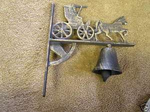 Great CAST IRON BellHORSE & BUGGY Figure