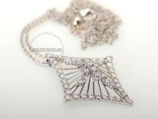 Hearts on Fire 18K White Gold & Diamond Legendary Pendant & Chain