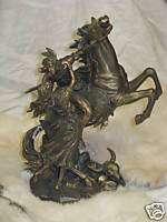 Liberty Bronze Sculpture/figurine Horse/lover 11 H