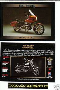 1983 HARLEY DAVIDSON FXRT SPORT GLIDE MOTORCYCLE CARD