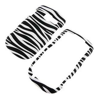 Pantech Link II 2 P5000 AT&T White Zebra Hard Case Cover +Screen