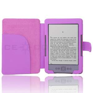 PU Leather Folio Cover Case Pouch for  Kindle 4 4th